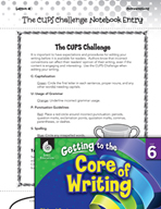 Writing Lesson Level 6 - The CUPS Challenge