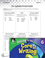 Writing Lesson Level 6 - The Sensational Six Strategies for Spelling