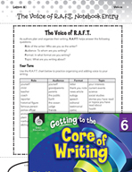 Writing Lesson Level 6 - The Voice of R.A.F.T.