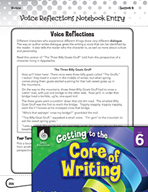 Writing Lesson Level 6 - Voice Reflections