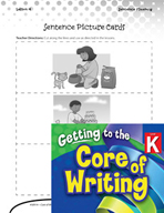 Writing Lesson Level K - Building Sentences