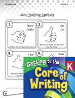 Writing Lesson Level K - Hand Spelling