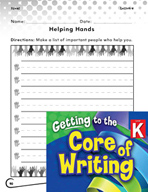 Writing Lesson Level K - Helping Hands