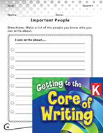 Writing Lesson Level K - Important People