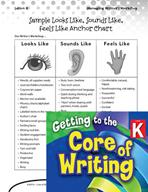 Writing Lesson Level K - Looks Like, Sounds Like, Feels Like