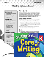Writing Lesson Level K - Making Alphabet Books