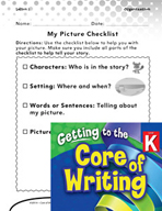 Writing Lesson Level K - Matching Text to Picture