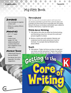 Writing Lesson Level K - My First Book