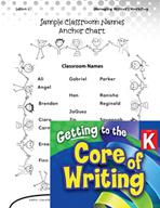 Writing Lesson Level K - My Writing Folder