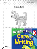 Writing Lesson Level K - Parts of a Sentence