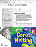Writing Lesson Level K - Posture and Pencil Grip