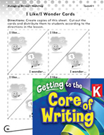 Writing Lesson Level K - Sharing Our Writing