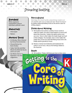 Writing Lesson Level K - Showing Feeling