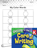 Writing Lesson Level K - Using Color and Number Words