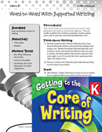 Writing Lesson Level K - Word-to-Word with Supported Writing