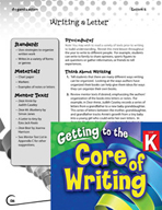 Writing Lesson Level K - Writing a Letter