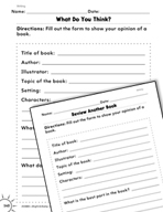 Writing: Writing a Book Report Practice