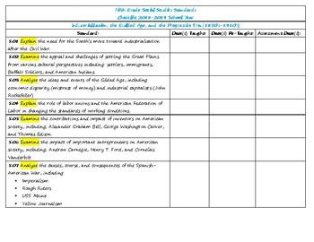 TN 2018-2019 Social Studies Standards Checklist