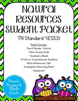 TN 4.ESS3.1 Natural Resources