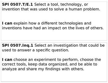 TN 5th Grade Science Standards (Sample)