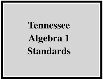 TN Algebra I Standards printable