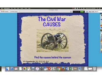 Causes of the Civil War TN Ready Social Studies