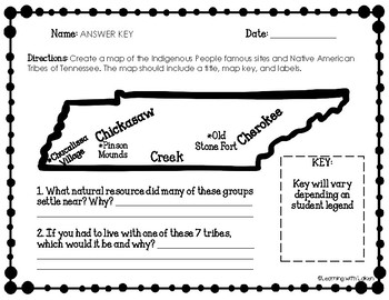 TN Native American Mapping Activity TN 4.1-4.3
