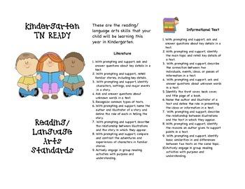 TN READY Kindergarten Reading/Language Arts Parent Brochure