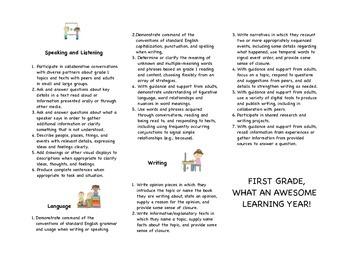 TN READY Standards First GradeLanguage Arts Brochure