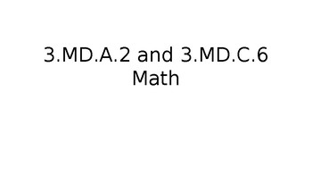 TN Ready Daily Test Practice Math 3.MD.A.2 and 3.MD.C.6