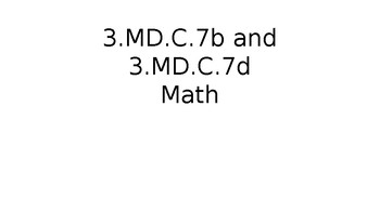 TN Ready Daily Test Practice Math 3.MD.C.7b and 3.MD.C.7d