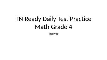 TN Ready Daily Test Practice Math Grade 4 Test Prep