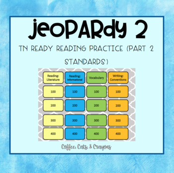 TN Ready ELA Part 2 Jeopardy Review Game #2 *editable*