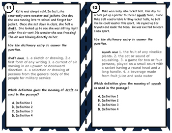 Common Core Vocabulary Task Cards RL 5.4 and RI 5.4 Set 2