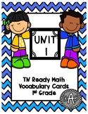 TN Ready Math Vocabulary Cards Unit 1