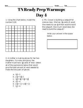 TN Ready Math Warmups