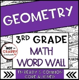 3rd Grade Math Word Wall Geometry | TN Ready & Common Core Aligned