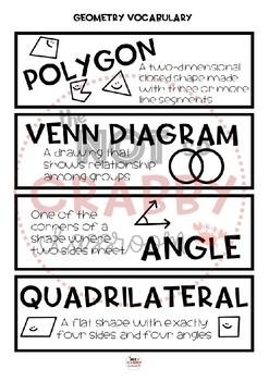 3rd Grade Math Word Wall Geometry | TN Ready & Common Core Aligned