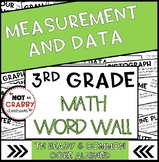 3rd Grade Math Word Wall Measurement & Data | TN Ready & Common Core Aligned