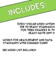3rd Grade Math Word Wall Measurement & Data | TN Ready & Common Core Aligned