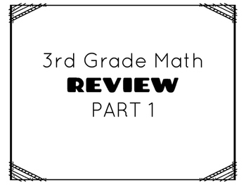 TCAP- Third Grade Math Review Part 1