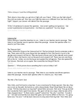 2nd Grade TN Ready TCAP ELA Practice Test D Directions