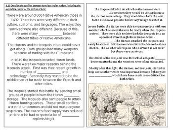 TN SS 4.11 Iroquois and Huron tribes' conflicts