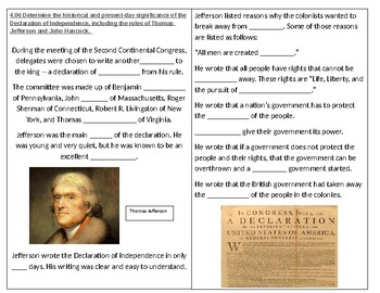 TN SS 4.28 Declaration of Independence