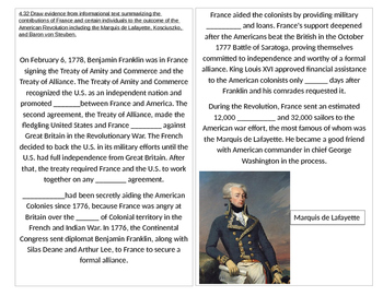 TN SS 4.32 Contributions of France in the American Revolution