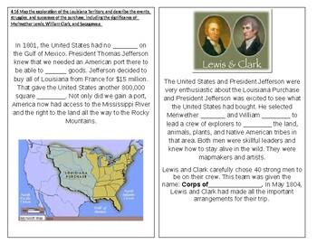 TN SS 4.47 Louisiana Purchase, Lewis and Clark, Sacagawea