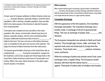 TN SS 4.5 Columbian Exchange, military campaigns