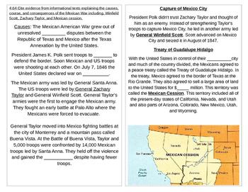 TN SS 4.64 Mexican War, Winfield Scott, Zachary Taylor