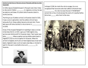 TN SS 4.7 Lost Colony of Roanoke