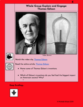 TN SS Standard 5.05 HyperDoc: Gilded Age Inventors (Bell, Carver, and Edison)